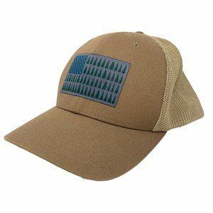 Columbia PFG Mesh Hat Brown Baseball Cap American